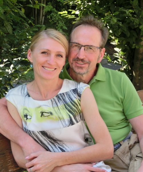 Lena und ich; mein Mann und ich